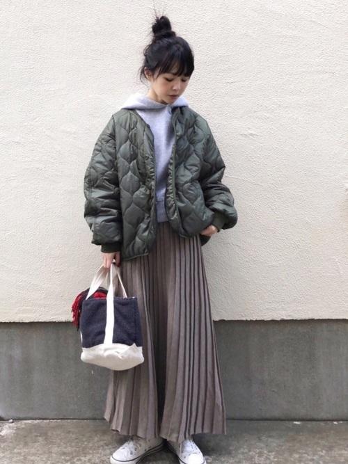 [AMERICAN HOLIC] ・ロングニットプリーツ風スカート