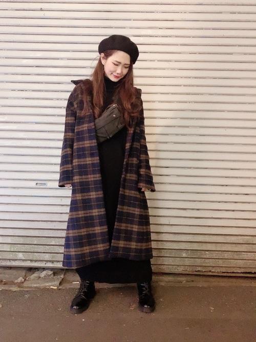 軽井沢 2月 服装 ワンピースコーデ5