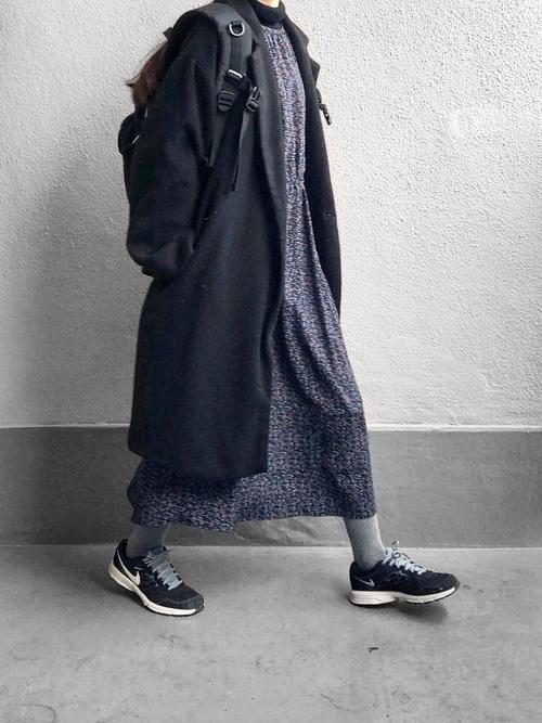 最高気温4度 服装 ワンピースコーデ3