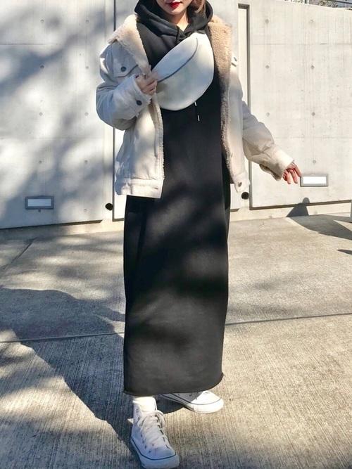 [STYLE BAR] 【STYLEBAR】フーディースウェットドレス