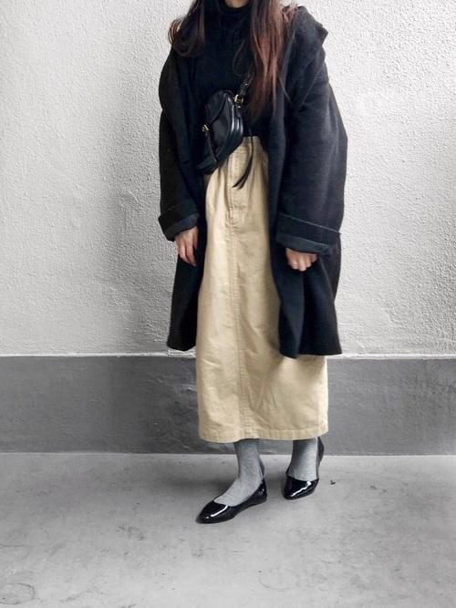 最高気温4度 服装 スカートコーデ4