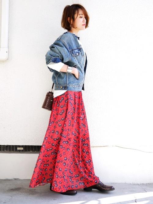 台湾 3月 服装 スカートコーデ3