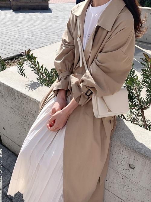 [I-SOOK] アコーディオンプリーツロングスカート
