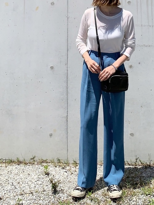 [BEAUTY&YOUTH UNITED ARROWS] <6(ROKU)>GEORGETTE HIGH WAIST PANTS/パンツ