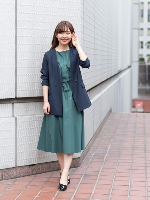 大人女性 ビジネスカジュアル 春コーデ6