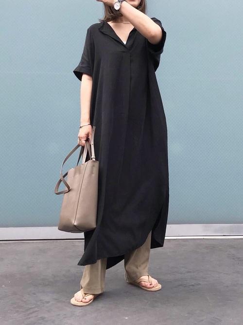 台湾 3月 服装 ワンピースコーデ2