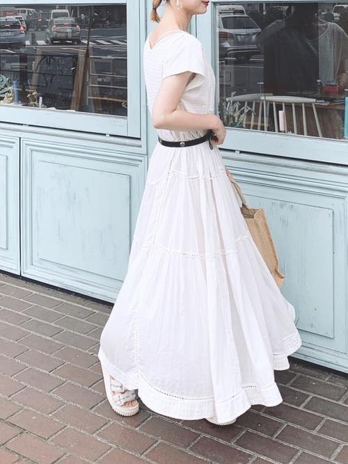 [STYLE BAR] 【STYLEBAR】エンブロイダリーレースティアードドレス