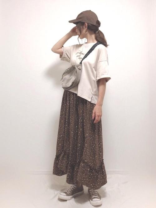 [PairPair] ダルメシアン柄スカーフ付きロゴTシャツ