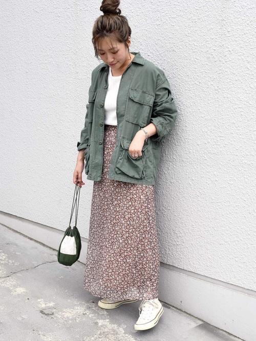 [SHIPS for women] Khaju:フラワーロングスカート19FW◇◇
