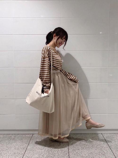 [MAJESTIC LEGON] チュールプリーツスカート