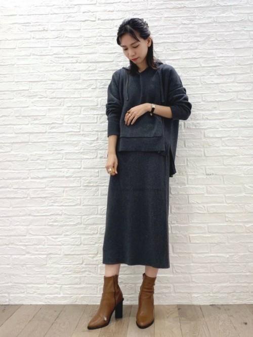 [BARNYARDSTORM] BARNYARDSTORM / フロントボタンリブスカート