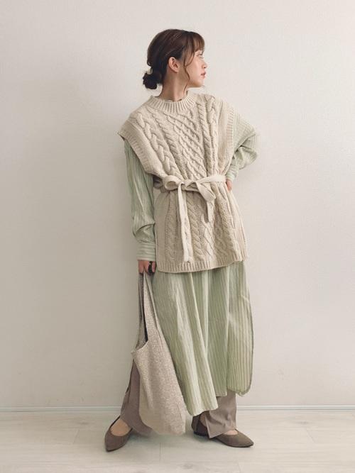 [TODAYFUL] ストライプシャツドレス
