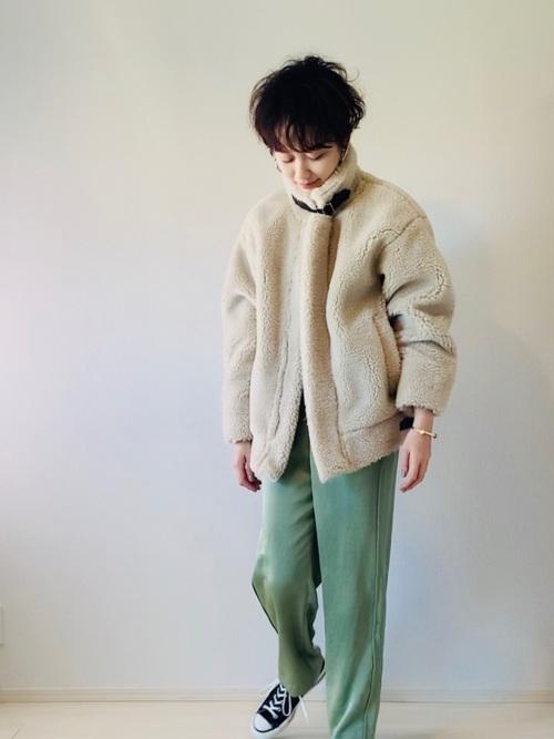 [Eimee Law & WASH] ボアショートB3ジャケットコート