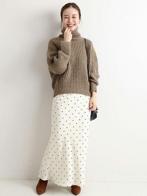 スカートスタイルで作るカフェオレ配色2