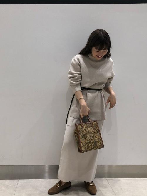 [CAPRICIEUX LE'MAGE] サイドポケットニットスカート