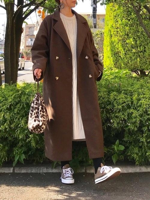 【1月の大阪向けの服装】ワンピ×チェスターコート
