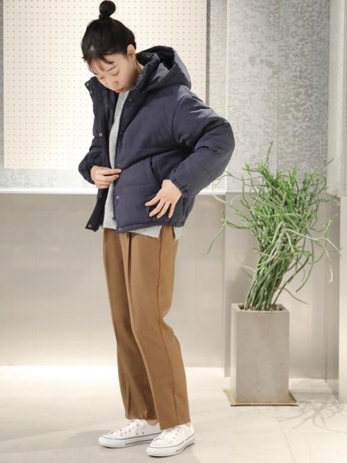 9[koe] 【フード付き】中綿ショートコート