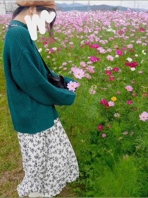 しまむらの花柄スカートコーデ7