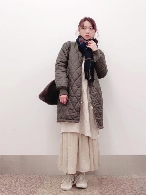 [THE SHOP TK] サテン消しプリーツスカート