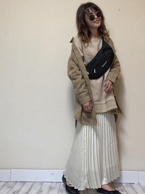 [LIPSTAR] 【セット商品】裏毛チュニックワンピ×プリーツスカート