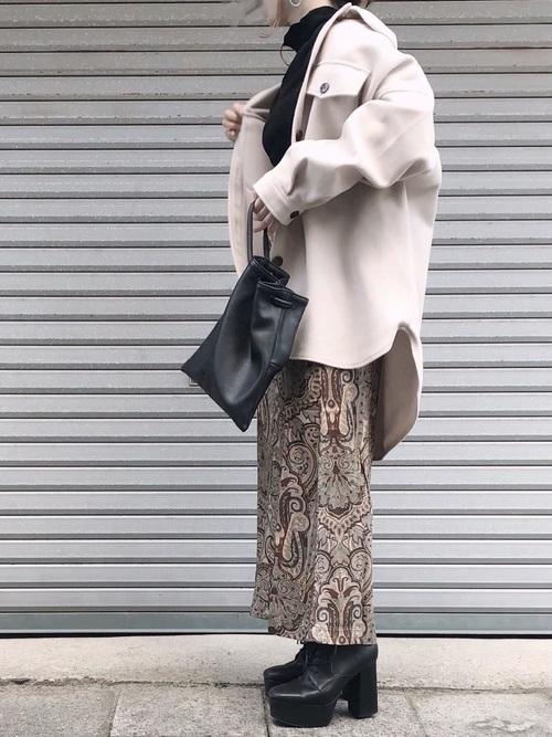 [Kastane] ペイズリーIラインスカート