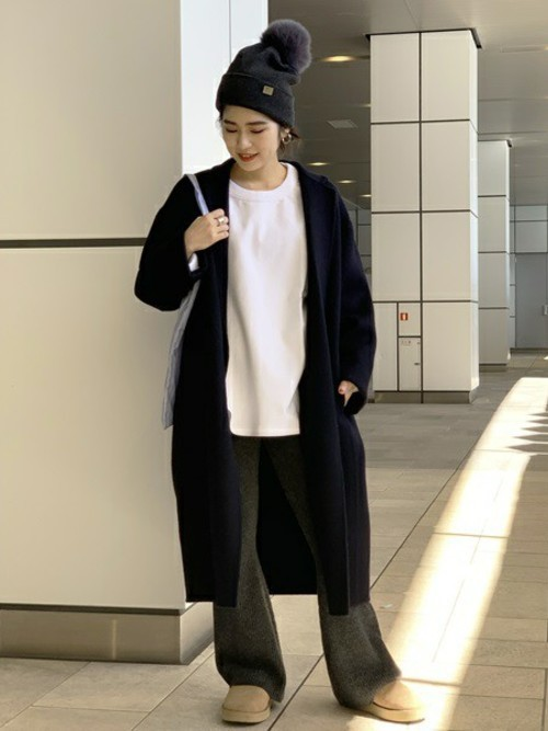 [Deuxieme Classe] 【THATS A HAT/ザッツ ア ハット】ポンポンニットキャップ