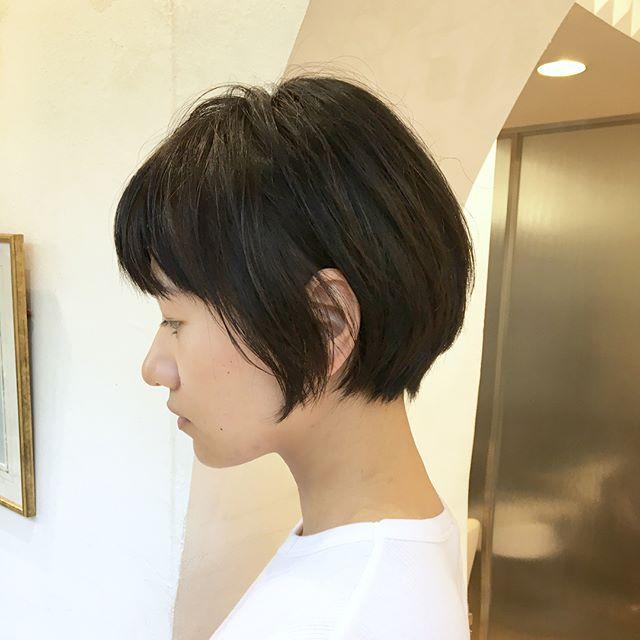 40代ぽっちゃりママのショートの髪型《黒髪・暗髪》3