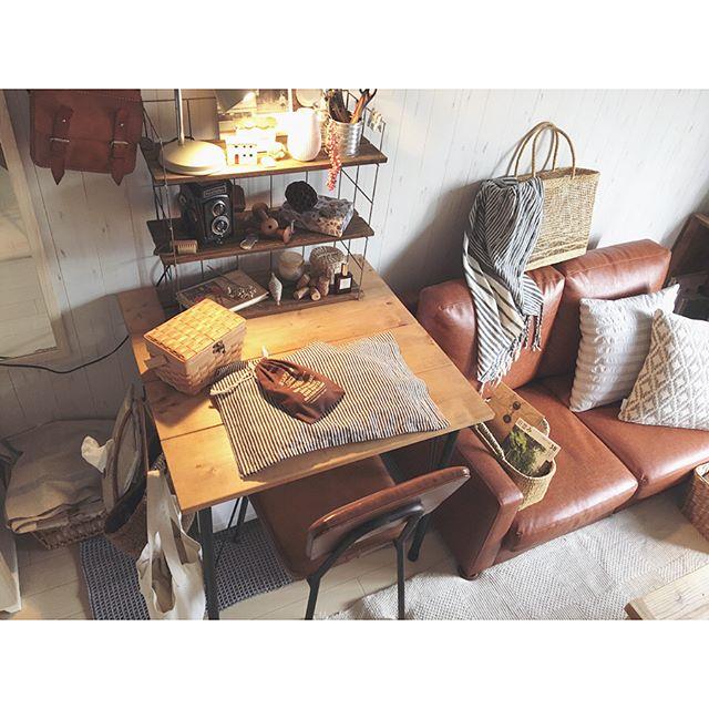 昭和レトロな家具を楽しむ一人暮らしお部屋