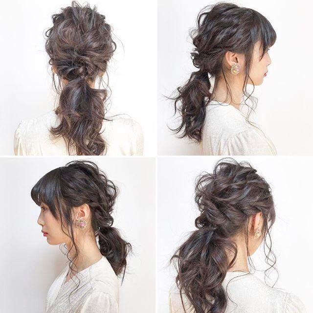 バレンタイン おすすめ 髪型 セミロングヘア5