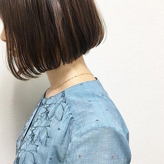 オフィスカジュアル ボブ 髪型5