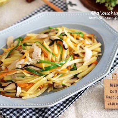 作り置きレシピに!豚肉と野菜のバター風味炒め
