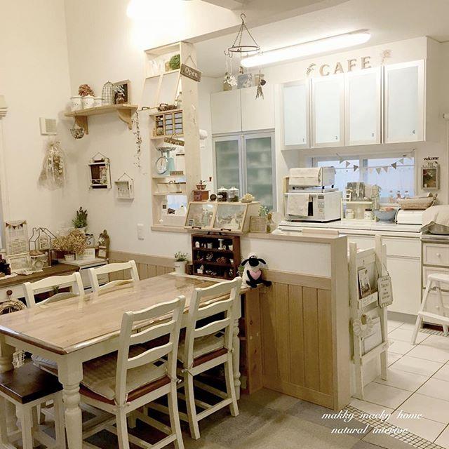 カントリースタイルの可愛いカフェ風キッチン