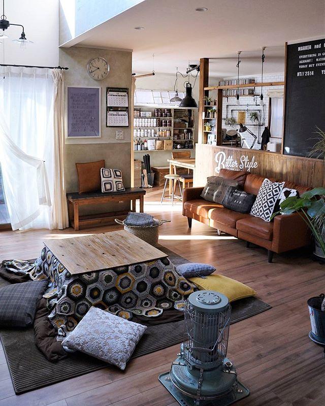 カフェ風スタイルの素敵なくつろぎ空間