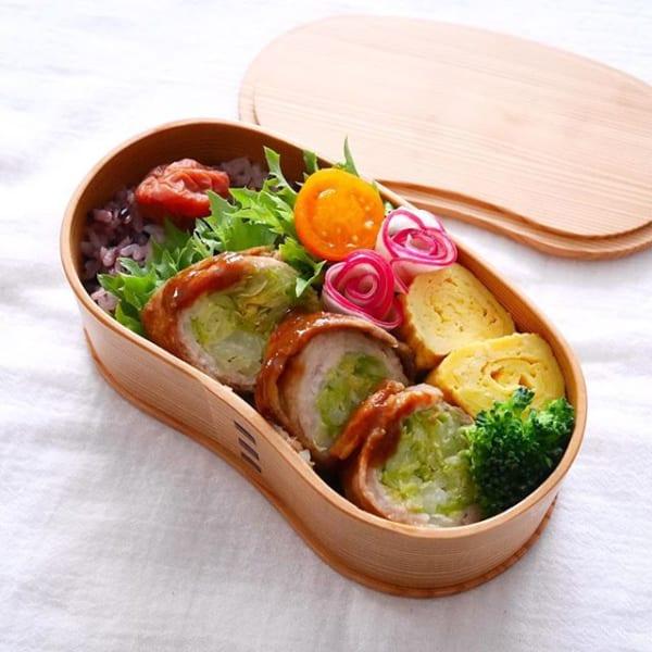 お弁当の主菜に!キャベツの生姜焼き風肉巻き