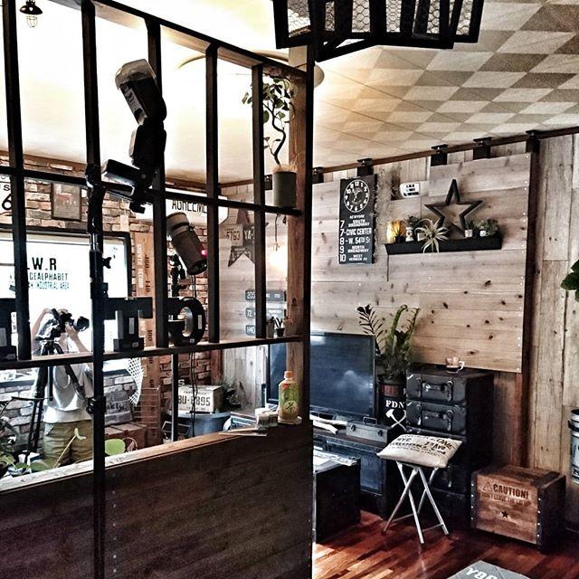 パーテーションでカフェ風空間2