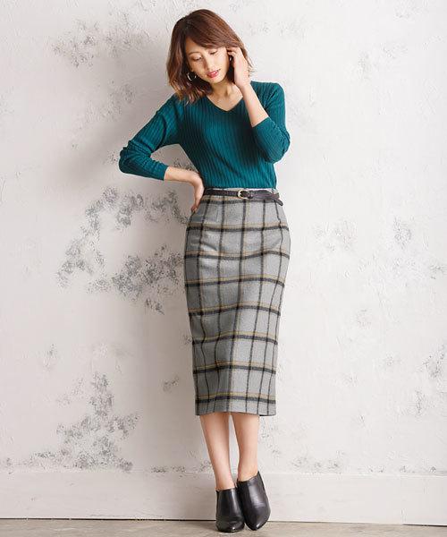 [Pierrot] チェックタイトスカート