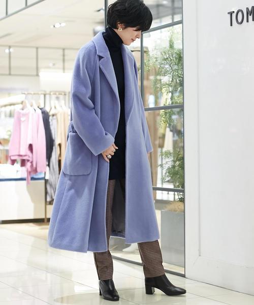 [TOMORROWLAND] プレミアムシャギー ベルテッドコート