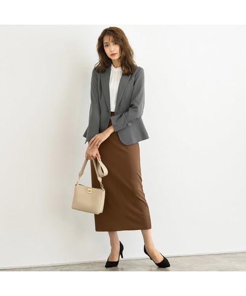 ロングタイトスカート×オフィスカジュアル