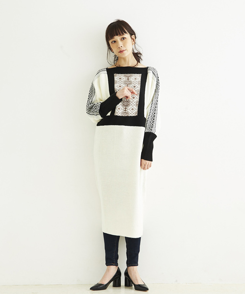 [A.I.C] WOOL MIX JQ.・ONE PIECE DRESS