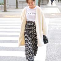 【2020冬】花柄スカートコーデ集♡一目置かれる褒められファッションをご紹介