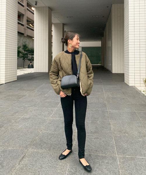 [kobelettuce] 【ノーカラー/フード】2typeリバーシブルボアブルゾンジャケットコート