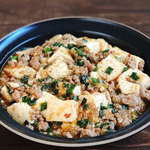 とんかつ用のレシピに!ニラたっぷりの麻婆豆腐