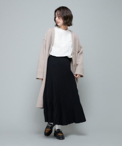 [CIAOPANIC] 細プリーツニットロングスカート