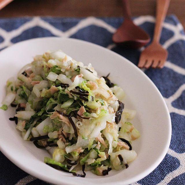 付け合わせに合う料理!白菜のやみつきサラダ