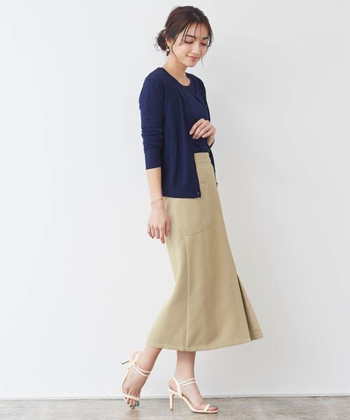[Pierrot] サイドポケット Iラインロングスカート
