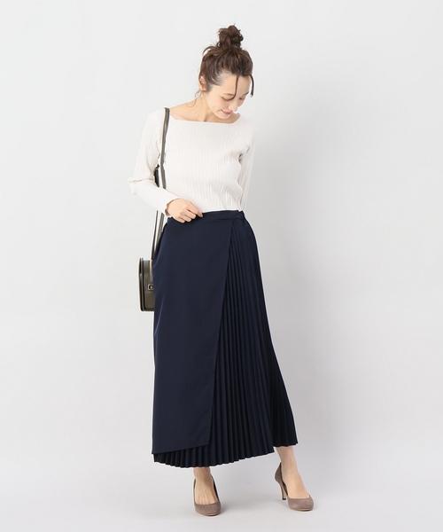 [JOINT WORKS] フロントラップバックプリーツスカート◆