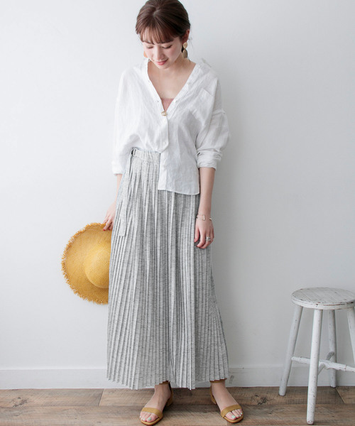 [URBAN RESEARCH] カットプリーツマキシスカート