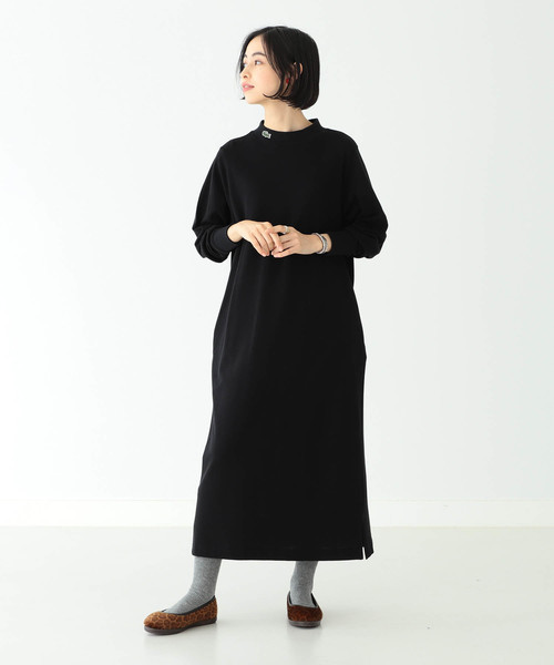 [BEAMS WOMEN] LACOSTE × BEAMS BOY / 別注 ハイネック ポロ ドレス