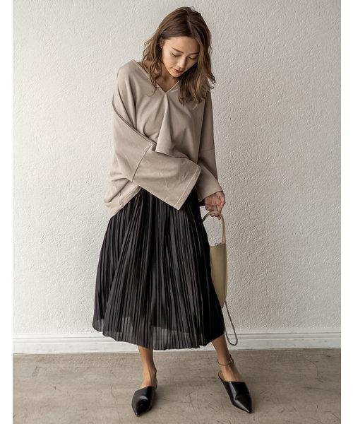 [Re:EDIT] シアーサテンプリーツスカート