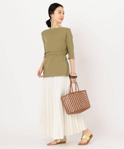 [SHIPS for women] デニムライクプリーツスカート2